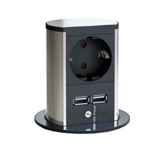Elevator USB verzinkbaar contactdooselement