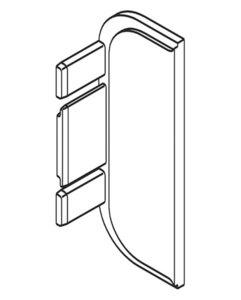 Eindkap C-profiel zilverkleurig