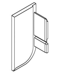 Eindkap links L-profiel zilverkleurig