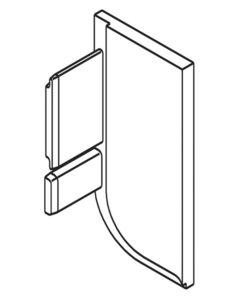 Eindkap rechts L-profiel zilverkleurig