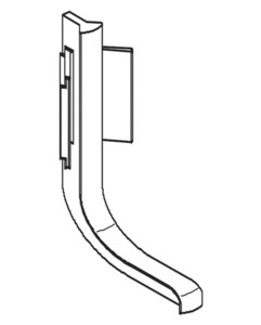 Binnenhoek L-profiel zilverkleurig