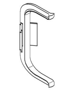 Binnenhoek C-profiel zilverkleurig